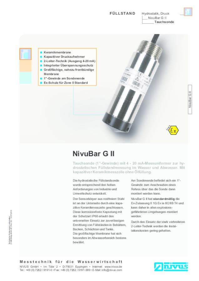 NivuBar G II